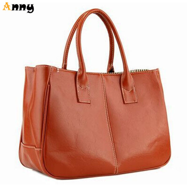 ANNY-Promotion Thicken Korea Candy Color Women Leather Handbags Hot Sell Fashion PU Women Bag Simple Casual Ladies Tote Bag(China (Mainland))