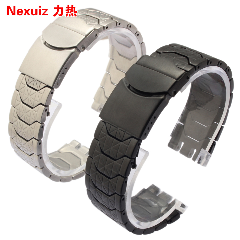 New  High quality Watchbands with metal bracelet Alternative  strap steel strap YCS410GX male 19 mm free shipping black|silver<br><br>Aliexpress