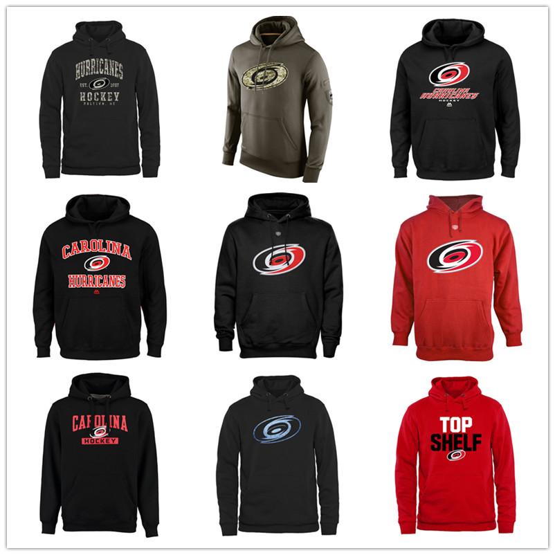 Free Shipping Mens Hurricanes Olive Salute To Service KO Performance Hoodie - Black Top Shelf Pullover Hockey Sweatshirts(China (Mainland))