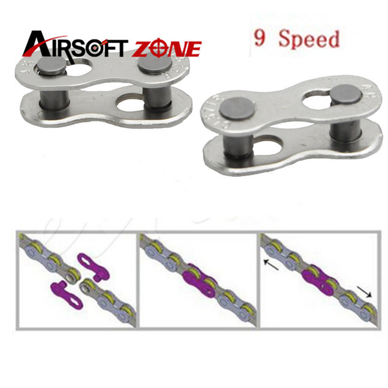 2pcs/lot 9 Speed Bike Chain Connector Lock Set MTB Road Bicycle Connector for Quick Master Link Joint Chain Bike For Outdoor <br><br>Aliexpress