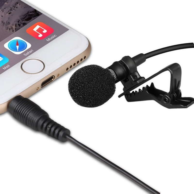 Professional Mini Metal Collar Clip Microphone Recording Karaoke Skype VOIP Small Mic for Mobile Phone Iphone Samsung Xiaomi PC(China (Mainland))
