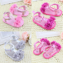 Newborn Baby Summer Prewalker Shoes Princess Girls Boys Kids Soft Soled Anti-slip Shoes(China (Mainland))