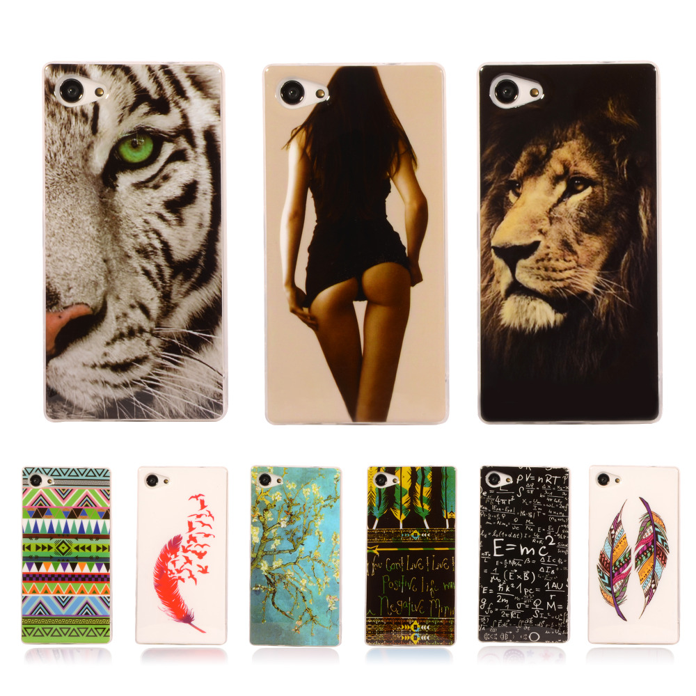 """Pattern Rubber Tribe TPU Cover For Sony Xperia Z5 Compact E5803 E5823 Z5 Mini 4.6"""" With Gel Case Mobile Phone Protective Case(China (Mainland))"""
