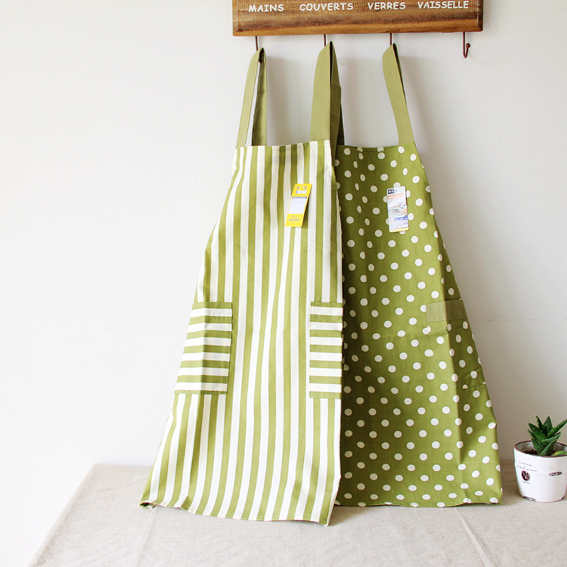 2016 New Kitchen Apron For Women Jap Style Green Natural Simple Design NO.SMQHAPRNGR(China (Mainland))