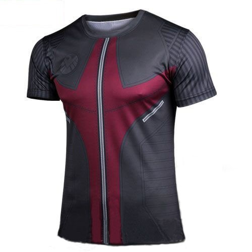 2015 Sport Sale Active Men Shirt Free Shipping 2015new Brand Leisure Spider Man Cycling Jerseys Short Sleeve T-shirt Superhero(China (Mainland))
