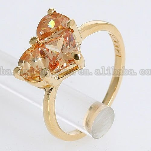 18k Gold Plated Fashion 3.5CT Citrine Crystal Cute Ring 094894 Free Shipping