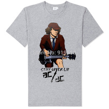 Buy acdc it's long way get top wanna rock n roll soft comfortable fabric tee shirt summer rock fashion for $9.01 in AliExpress store