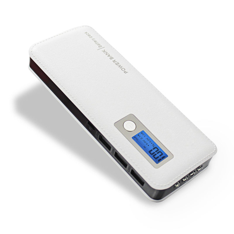 DCAE 12000 mAh Power Bank Portable Charger Three USB Four LED Lights External Battery For Smart Phones Tablet Fast Charging(China (Mainland))