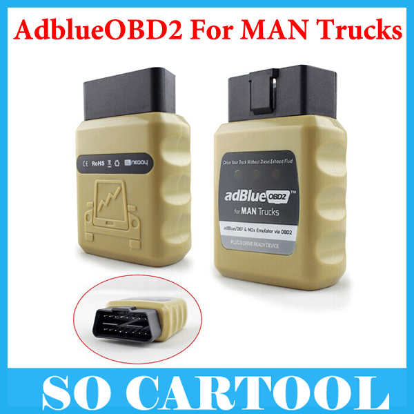 [ 10pcs/lot ] AdblueOBD2 Emulator for MAN Trucks Plug and Drive Ready Device by OBD2 for MAN AdblueOBD2 Emulator by DHL Shipping(China (Mainland))