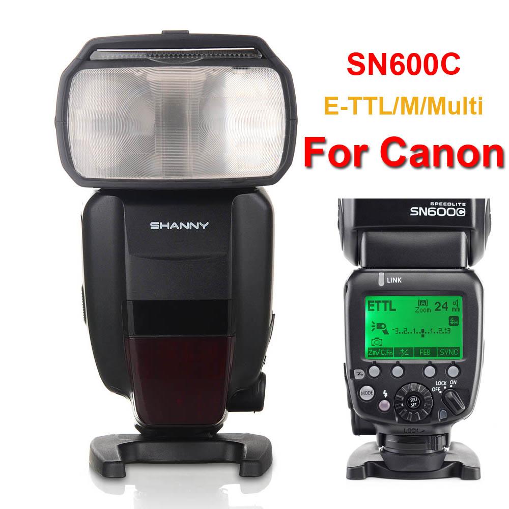 SHANNY SN600C GN60 e-TTL High Speed Sync 1/8000s Flash Speedlite for Canon EOS 6D 7D 5D Mark II 5D2 5D3 60D 70D 700D DSLR Camera(China (Mainland))