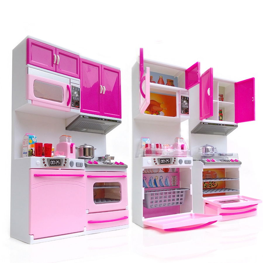 Kids kitchen toy for girl children toys plastic for Girls play kitchen