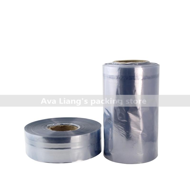 0.5kg/lot Heat shrinkable film, PVC shrink band sleeve with 3~120cm width Heat shrinkable belt(China (Mainland))