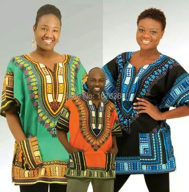 (fast shipping)2015 New fashion design african traditional print 100% cotton Dashiki T-shirt for unisex (MADE IN THAILAND)(China (Mainland))