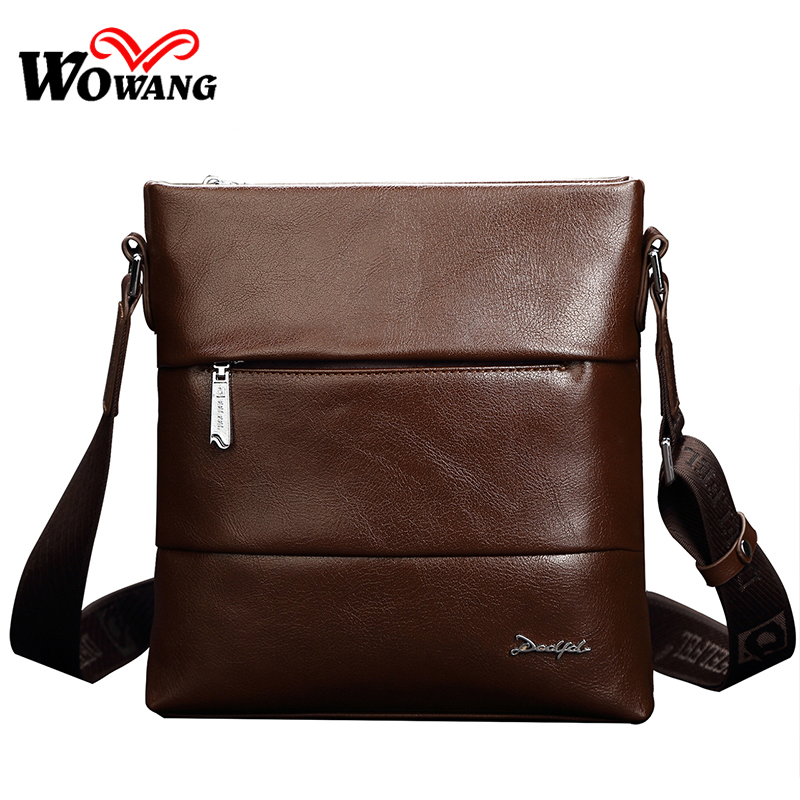 2016 Famous Brand Business Man Briefcases, Genuine Leather Bag Classic Casual Men Messenger Bag Fashion Shoulder Crossbody bags(China (Mainland))