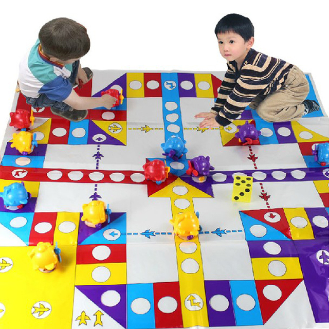 Oversized 80cm flight chess child puzzle toy chess parent-child game chess baby three-dimensional flight chess