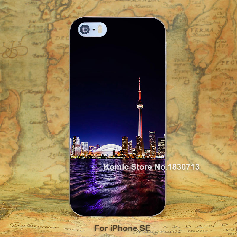 mt44 toronto city night missing tower hard transparent clear Cover Case for iPhone SE 4 4s 5 5s 5c 6 6s Plus(China (Mainland))