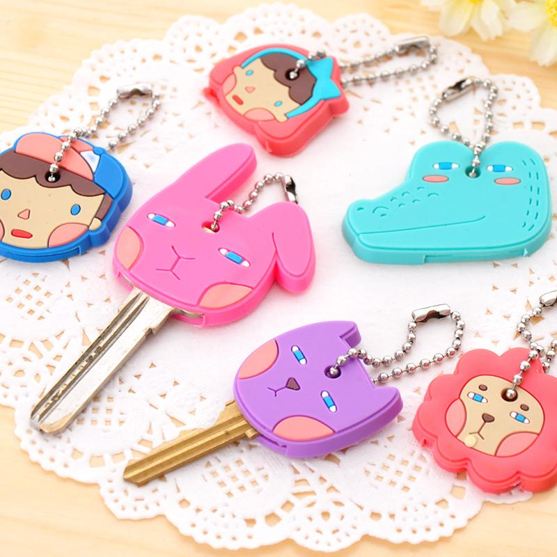Novelty Items Cute Anime Cartoon Silicone Key Cover Key Caps For Women Gift(China (Mainland))