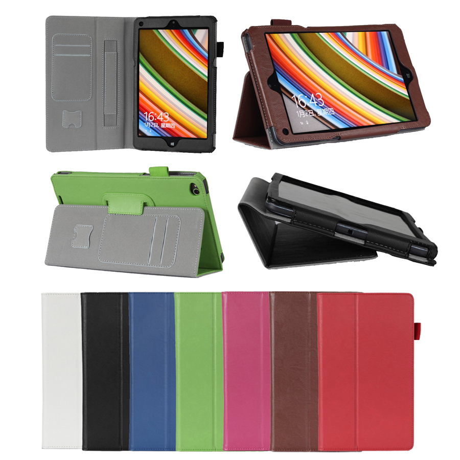 Hand Strap Leather Wallet Case Stand Cover Lenovo 8.3 inch ThinkPad 8 Windows - BEST BOBI STORE store