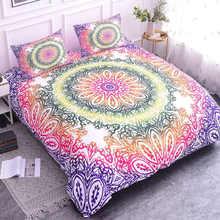ZEIMON Bohemian Mandala Printed Duvet Cover Set Bedding Sets With Pillow Case Luxury Microfiber Bedspread Home Textiles(China)