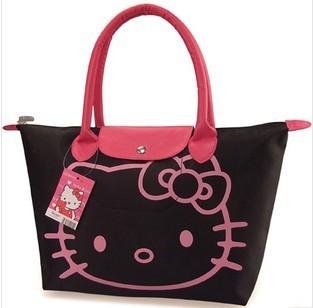 New 2015 Fashion Hello Kitty Cat Tote Bag/Shoulder Bag High Quality Cute Waterproof Shopping Bag Free Shipping