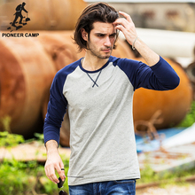Buy Pioneer Camp Spring Long Sleeve T Shirt Men brand clothing Slim Fit Men Casual Long TShirts Long-Sleeve T-Shirt men for $13.52 in AliExpress store