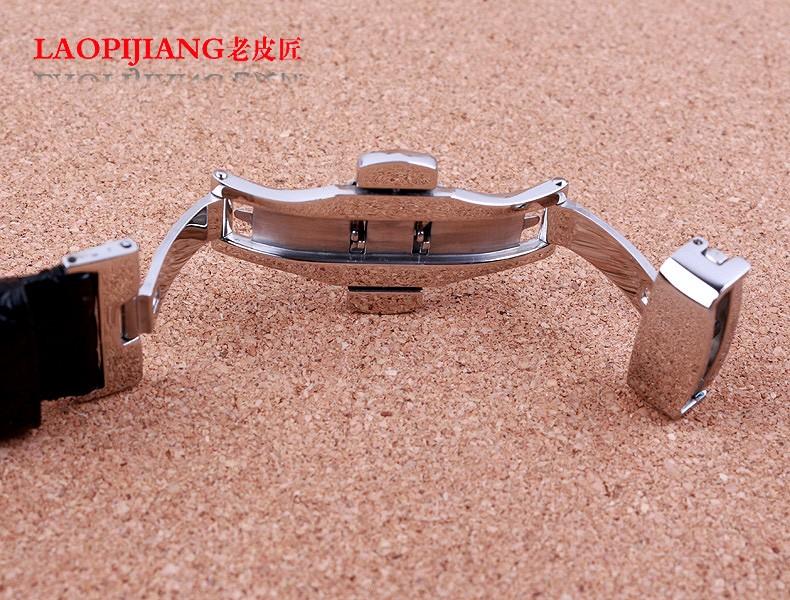 Laopijiang ремешок из кожи аллигатора импортные высокого класса мода ремешок 18 / 19 / 20 / 21 / 22 мм