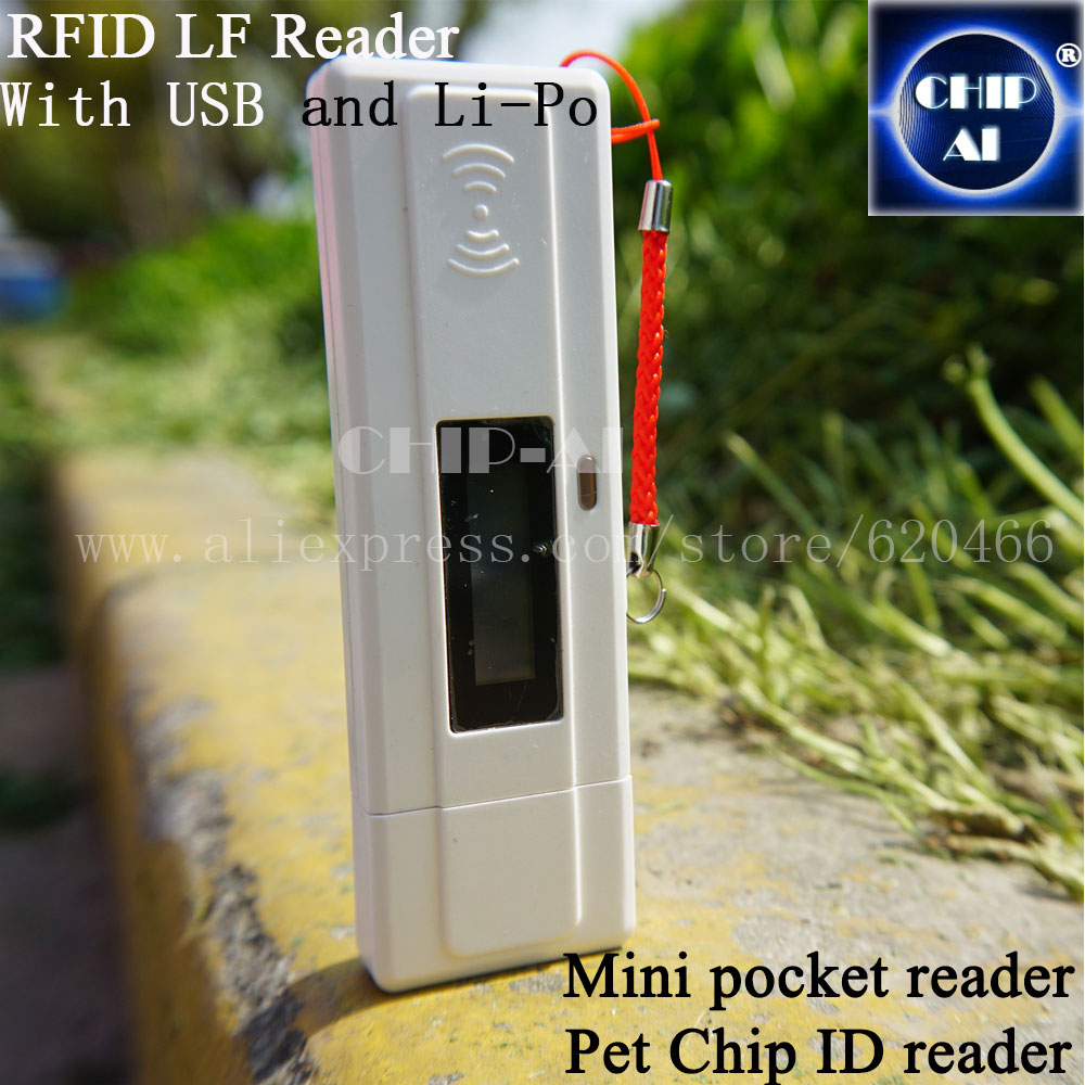 RFID reader,RT-10, Pet chip scanner,Portable Reader for RFID 134.2 KHz FDX-B, FDX-A(China (Mainland))