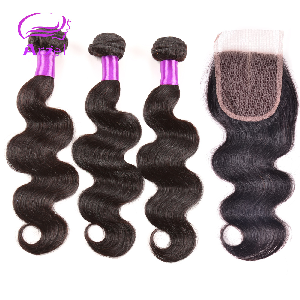 Гаджет  Unprocessed Virgin Brazilian Hair With Closure Brazilian Body Wave With Closure #1B Brazilian Virgin Hair Bundle With Closure  None Волосы и аксессуары