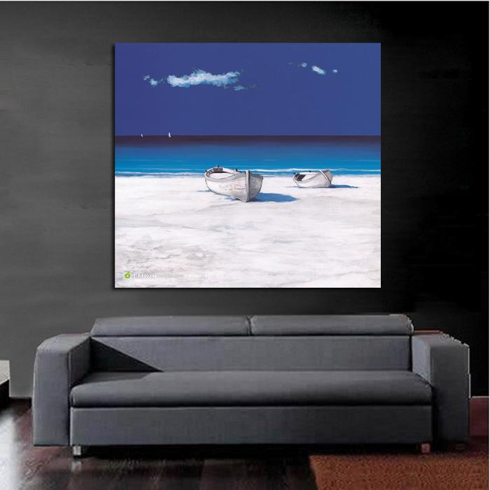 Handpainted Home Decor Art Crazy Blue Sky Oil Painting