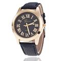 Genven Quartz Brand Luxury Lady Watches Women Gold Roman dial Fashion Female Wristwatches Leather Dress Ladies