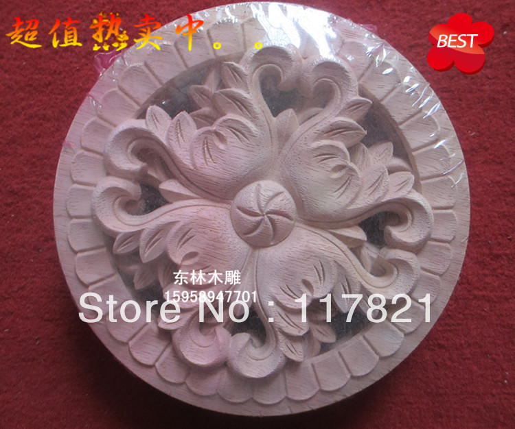 Dongyang wood carving furniture, home accessories applique patch European shavings round y-033