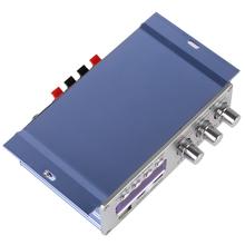 NEW 5PCS HY502 USB / MP3 / DVD / CD / FM SD Sound Mode Digital Display Hi-Fi Car Stereo Power Amplifier Mini Amp Remote Control(China (Mainland))