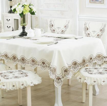 Fashion embroidery Table Cloth tablecloth dinner Mat Cover Cutout flower around kitchen Dec wholesale FG221(China (Mainland))