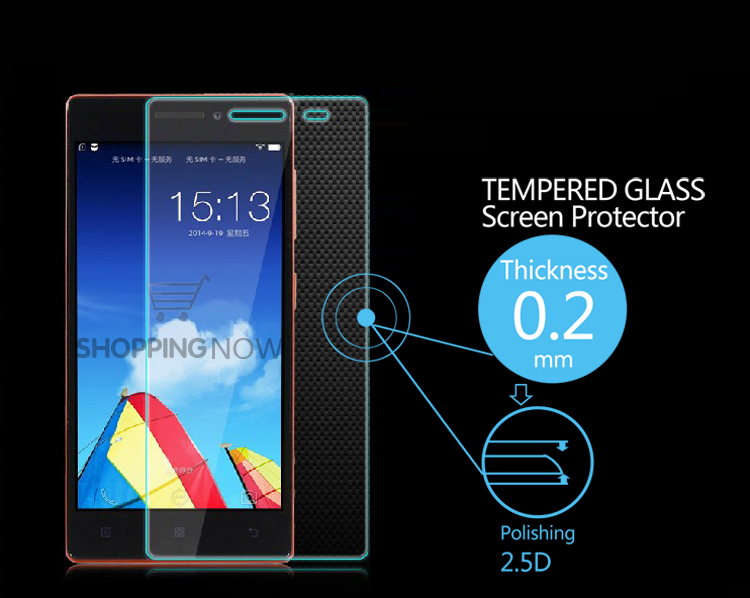 New Arrival Ultra-thin Explosion-Proof Anti Shatter Tempered Glass Screen Protector Film For Lenovo Vibe X2 With Retail Package