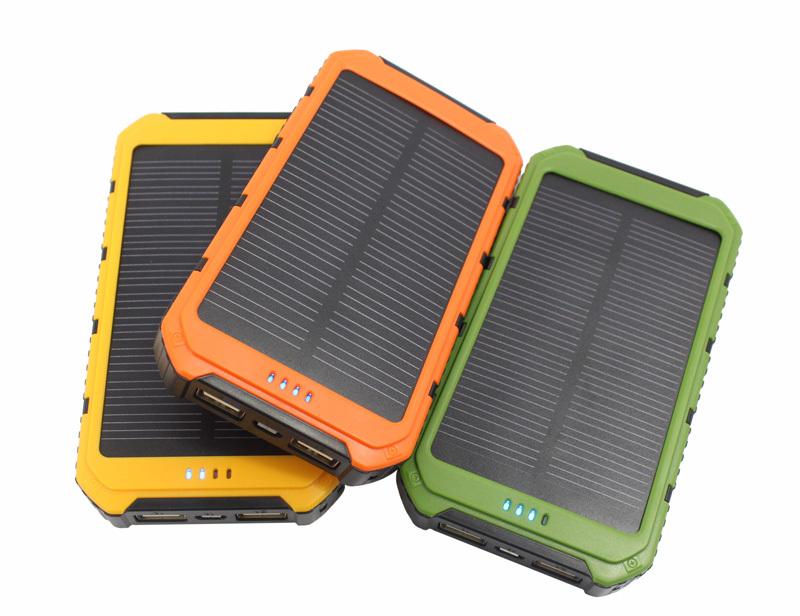 100% brand new 20000mAh Portable Waterproof Solar Charger Dual USB External Battery Power Bank carregador de bateria portatil(China (Mainland))