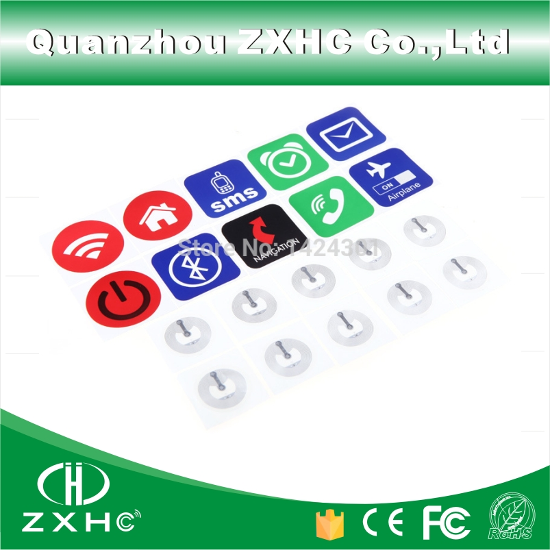 (10pcs) NFC Sticker Tag Ntag213 Chip All NFC Phones Compatible After Install Software(China (Mainland))
