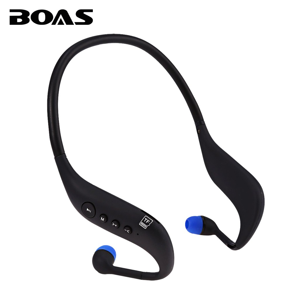 BOAS bluetooth 4.0 earphones running sport headphones support TF card MP3 player FM radio sweatproof headsets Mic for smartphone(China (Mainland))
