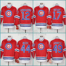 Cubs Jerseys 12 Kyle Schwarber 17 Kris Bryant 44 Anthony Rizzo 49 Jake Arrieta Chicago Cubs jerseys Baseball Long Sleeve Shirt(China (Mainland))