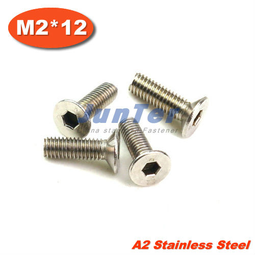 100pcs/lot DIN7991M2*12mm Stainless Steel A2 Flat Socket Head Cap Screw<br><br>Aliexpress