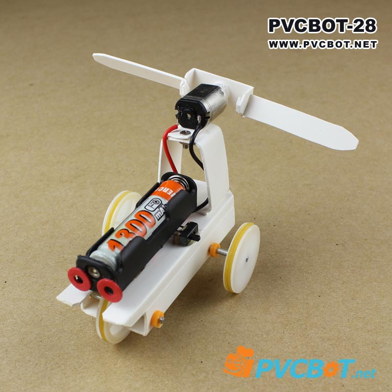 Small production technology model toy diy robot kit three wheel material barrowload toy(China (Mainland))