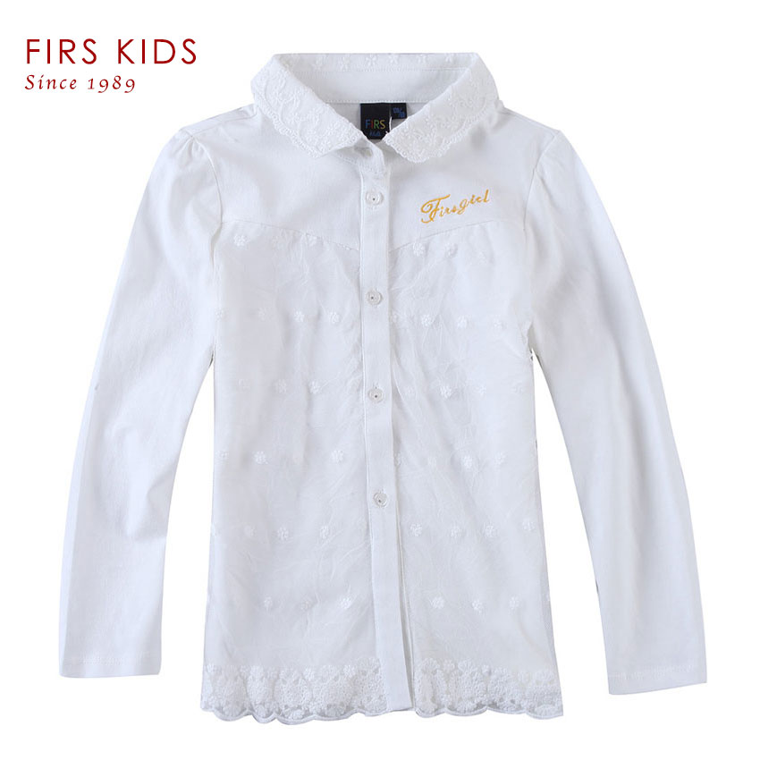 Girls Blouses White Children Clothing Girl Clothes 2016 Sping Autumn Blouses Big Kids Long Sleeve Cotton Blouse Child Shirt(China (Mainland))