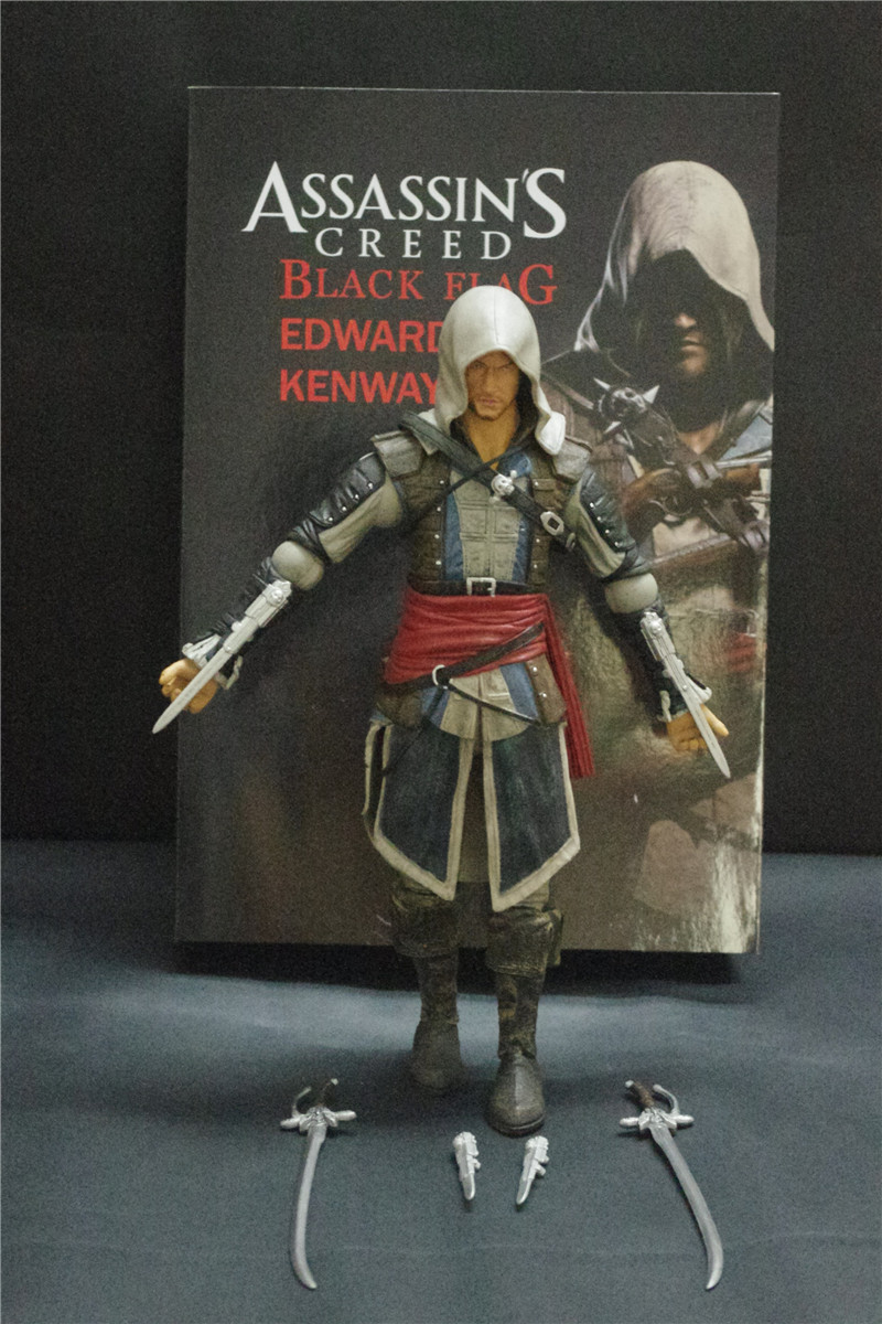 Assassin's Creed Edward James Kenway PVC 30CM Action Figure Collection Game Model Dolls Kids Toys T496(China (Mainland))