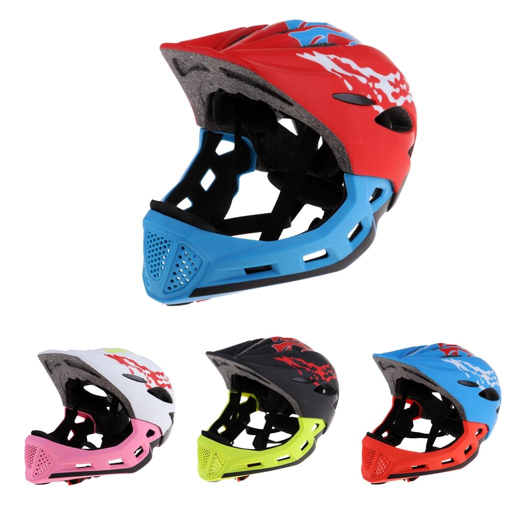 Full Covered Kid Helmet Balance Bike Children Full Face Helmet Cycling Motocross Outdoor Sports Downhill Skate Safety Helmet BMX