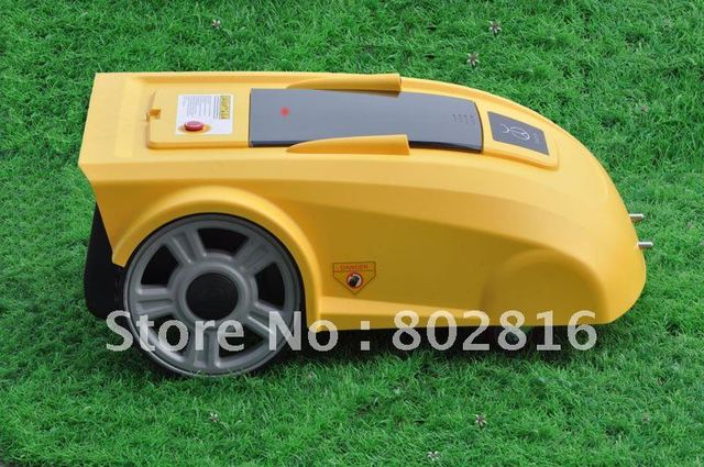 Virtual Wire 100m,Robotic Auto Garden Lawn Mower With Newest Function ELECONTRONIC COMPASS +Remote Controller
