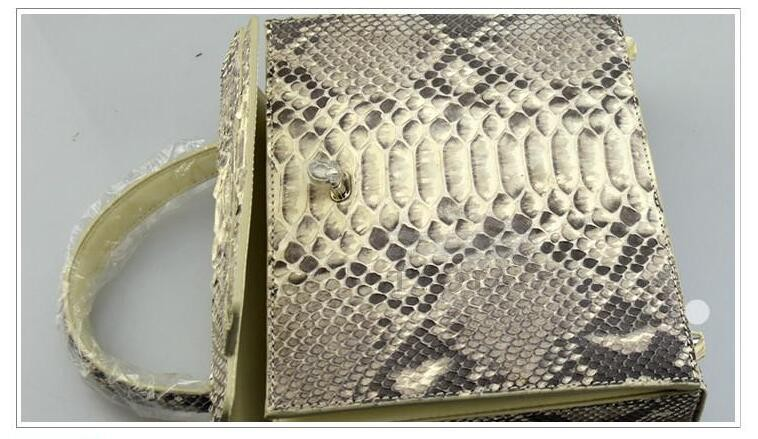 Genuine Real Python Snake Skin Shoulder Bag Lady Handbag Purse Free Shipping