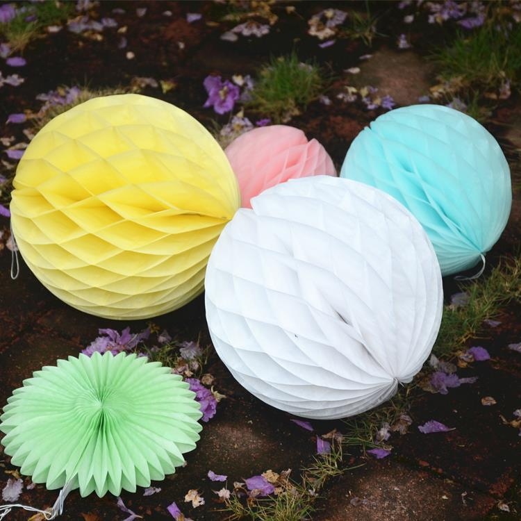 Cheap! 50pcs 10inch Tissue Paper Honeycomb Ball Colorful Flowers Lantern For Wedding Decoration Birthday Party Decor Kids Gift(China (Mainland))