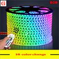 15m 16m SMD 5050 RGB LED Strip 220v Waterproof Led Light 60Leds m Flexible Neon Led