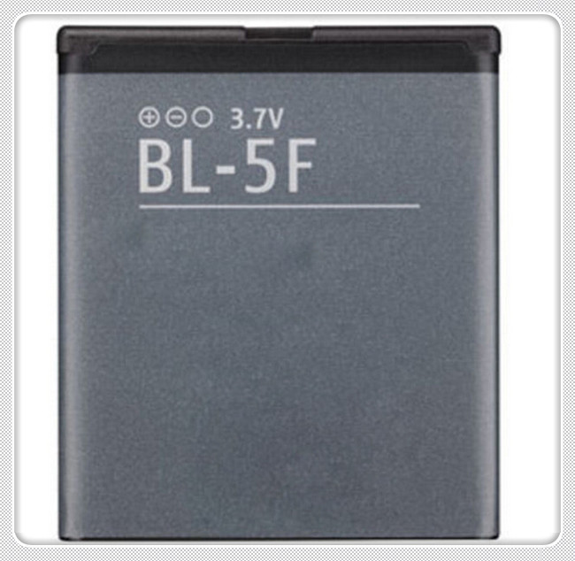 2pcs Original New High Quality Rechargeable Li-ion Battery 890mAh For Nokia N95 N96 E65 BL-5F BL 5F(China (Mainland))