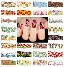 (SY001-SY084) 2015 New Style Water Tranfer Nail Sticker, Nails Beauty Decals Temporary Tattoos Watermark + Free Shipping