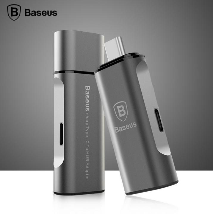 Baseus New Original Type c to HUB USB 3.0 Adapter Mini Converter Type-C Sync Date Charging For Retina Macbook/Nokia N1/Oneplus 2(China (Mainland))